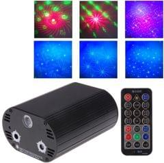 3 in 1 RGB Disco DJ Club Holographic Laser Projector, Support Sound Active & Auto Mode Function, with Remote Control