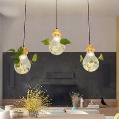 Solid Wood Classic Bulb Shape Pendant Lamp Ceiling Lamp for Bedroom Living Room Study Restaurant Bar Coffee House Aisle Hall (White)