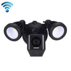 ESCAM QF608 HD 1080P WiFi Floodlight IP Camera, Support Night Vision / PIR Alarm / TF Card / Onvif (Black)