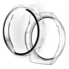For Huawei Watch GT2e 2 in 1  Tempered Glass Screen Protector + Fully Plating PC Case (Transparent)