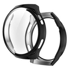 For Huawei Watch GT2e 2 in 1  Tempered Glass Screen Protector + Fully Plating PC Case (Black)