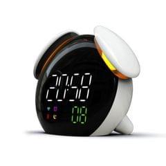 Creative Cartoon Dog Time Voice Broadcast Intelligent Induction Multifunctional Alarm Clock, Style:Weather Forecast (White)