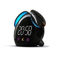 Creative Cartoon Dog Time Voice Broadcast Intelligent Induction Multifunctional Alarm Clock, Style:Alarm Clock (Black)