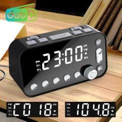 DAB-A1 European Version Large Screen DAB & FM Alarm Clock Radio with Dual USB Interface