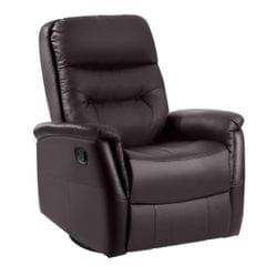 Home Theater Leather Sofa Recliner 360 Degree Swivel Armchair