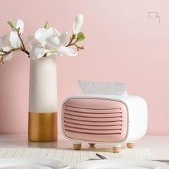 Creative Radio Shape Tissue Box Simple Household Plastic Desktop Storage Box, Size:19x13.5x14cm (Pink)