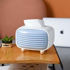 Creative Radio Shape Tissue Box Simple Household Plastic Desktop Storage Box, Size:19x13.5x14cm (Blue)