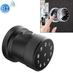 Door Lock Bluetooth Password Lock Intelligent Fingerprint Padlock Electronic Lock, Fingerprint Edition (Black)
