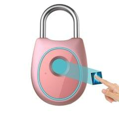 Portable Smart Fingerprint Lock Electric Biometric Door Lock USB Rechargeable IP65 Waterproof Home Door Luggage Case Lock Bluetooth Electronic Lock (Rose Gold)