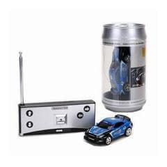 Coke Can Mini RC Car Radio Remote Control Micro Racing Car (Blue)