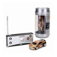 Coke Can Mini RC Car Radio Remote Control Micro Racing Car (Gold)