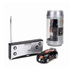 Coke Can Mini RC Car Radio Remote Control Micro Racing Car (Black+Orange)