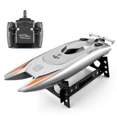 Children Water Toy High-speed Remote Control Boat 7.4 V Large Capacity Battery Speed Boat Racing Boat (Silver gray)