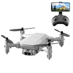 LS-MIN 1080P Foldable RC Quadcopter Drone Remote Control Aircraft, Box Packaging (Grey White)