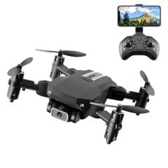 LS-MIN 480P Foldable RC Quadcopter Drone Remote Control Aircraft, Box Packaging (Black)