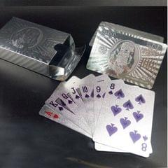 Creative Frosted Golden Tattice Back Texture Plastic From Vegas to Macau Playing Cards Texas Poker Novelty Collection Gift (Style6)