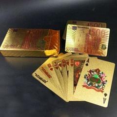 Creative Frosted Golden Tattice Back Texture Plastic From Vegas to Macau Playing Cards Texas Poker Novelty Collection Gift (Style7)
