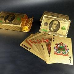 Creative Frosted Golden Tattice Back Texture Plastic From Vegas to Macau Playing Cards Texas Poker Novelty Collection Gift (Style8)