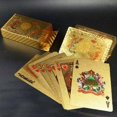 Creative Frosted Golden Tattice Back Texture Plastic From Vegas to Macau Playing Cards Texas Poker Novelty Collection Gift (Style10)