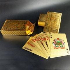 Creative Frosted Golden Tattice Back Texture Plastic From Vegas to Macau Playing Cards Texas Poker Novelty Collection Gift (Style11)