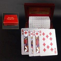 Creative Frosted Golden 100 Euro Back Texture Plastic From Vegas to Macau Playing Cards Texas Poker with Wooden Gift Box (Style5)