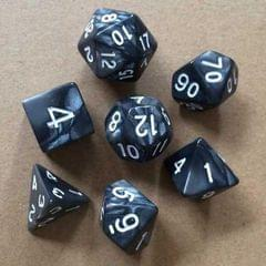 5 Set Creative RPG Game Dice Colorful Multicolor Dice Mixed DND Dice (Black)