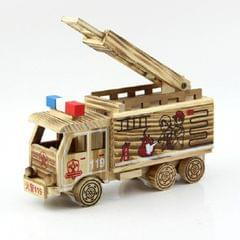 Simulation Fire Rescue Truck Creative Home Model Wooden Ornaments?, Style:Fire Truck