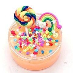 DIY Rainbow Lollipop Poking Puzzle Unzipping Q Bomb Plasticine (Yellow)