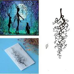 Creative Retro Hand Account Transparent Seal DIY Student Manual Decoration Material, Style:Literary Branches