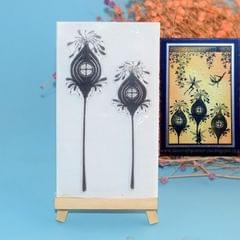 Creative Retro Hand Account Transparent Seal DIY Student Manual Decoration Material, Style:Plant House