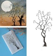 Creative Retro Hand Account Transparent Seal DIY Student Manual Decoration Material, Style:Little Tree