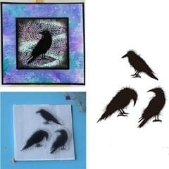 Creative Retro Hand Account Transparent Seal DIY Student Manual Decoration Material, Style:Three Birds