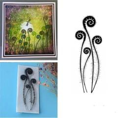 Creative Retro Hand Account Transparent Seal DIY Student Manual Decoration Material, Style:Fern