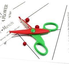 6 PCS Lace Scissors DIY Photos Color Plastic Scissors Paper Diary Decoration (Small waves)
