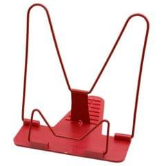 Portable Foldable Adjustable Bookend Stand Reading Book Stand Document Holder Base (Red)