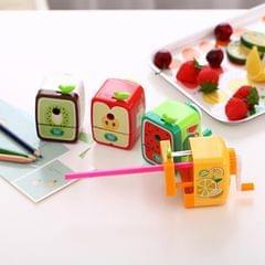 Cartoon Fruit Hand Pencil Sharpener Fun Student Cute Sharpener, Random Color Delivery