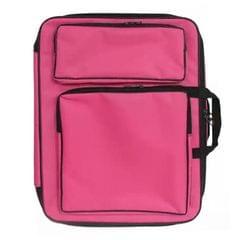 Children 8K Fashion Cute Double Shoulders Canvas Waterproof Drawing Bag (Pink)