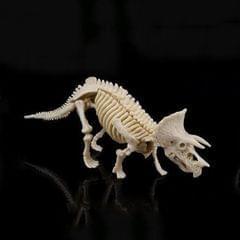Creative DIY Excavation Archeological Dinosaur Toy Fossil Puzzle Children Handmade Dinosaur Skeleton Model (Triceratops)