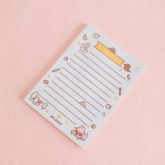 2 PCS Cute Cartoon Bread Bunny Note Book Hand Memo Material Notes Can Tear Memo Portable Notepad, Pages:80? (Simple Horizontal Line)