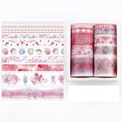 10 PCS/Box Fantasy Ocean Beautiful Plants Leaves Paper Tape DIY Decoration for Handbook Masking Tape Adhesive Tape (Field Mulberry)