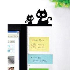 Computer Monitor Side Board Message Board With Convenient Ruler, Position:Monitor Right (Cat)