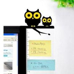 Computer Monitor Side Board Message Board With Convenient Ruler, Position:Monitor Right (Owl)