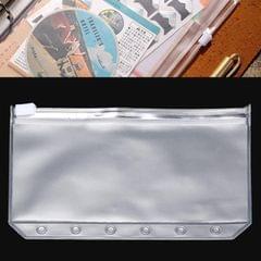 3 PCS Bill Bag Business Card Pull-edge Loose-leaf Pocket Insert PVC Zipper Storage Bag A5 L