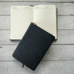Ultra-Thick Retro Simple Lmitation Leather Thick 720-Page Horizontal Blank Notebook, Specifications:Large A5 Gold Rim Horizontal Line