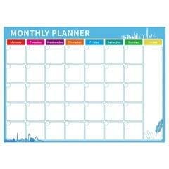 Magnetic Monthly Planner Refrigerator Magnet PET Magnetic Soft Whiteboard, Size: 29.7cm x 42cm (Blue)