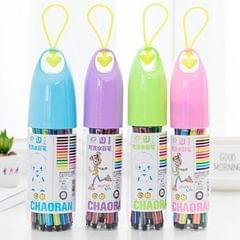 2 Set Lucky Bottle Non-toxic Scrubbing Children Graffiti Drawing Marker Watercolor Pen Color Mix, Style:24 Colors