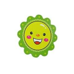 10 PCS Kindergarten tTeaching Aids Magnetic Reward Stickers Smiley Little Red Flower Refrigerator Blackboard Whiteboard Magnetic Stickers, Size:5�5cm (Green)