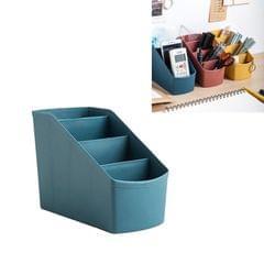 3 PCS Home Office Plastic Storage Box Desktop Student Stationery Rack Cosmetic Box (Dark Blue)