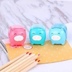 10 PCS Deli 0557 Cute Pig Pencil Sharpener Mini Pencil Sharpener Random Color Delivery