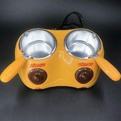 Electric heating double Pot Furnace Chocolate Melting Machine, 220V (Yellow)